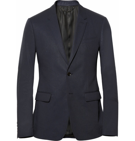 Belstaff Adlington Flax and Cotton-Blend Blazer