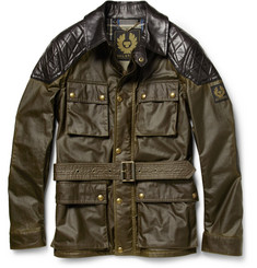 Belstaff Trophymaster Waxed-Cotton and Leather Jacket