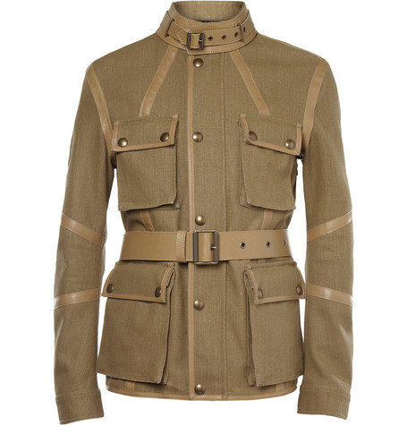 Belstaff Nottington Canvas and Leather Jacket
