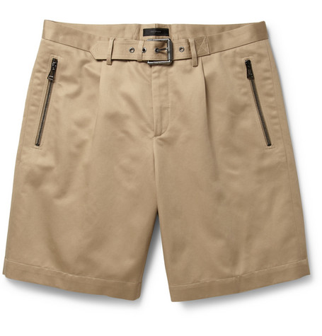 Belstaff Croxton Cotton and Linen-Blend Sateen Shorts