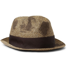 Paul Smith Shoes & Accessories Woven-Paper Trilby Hat