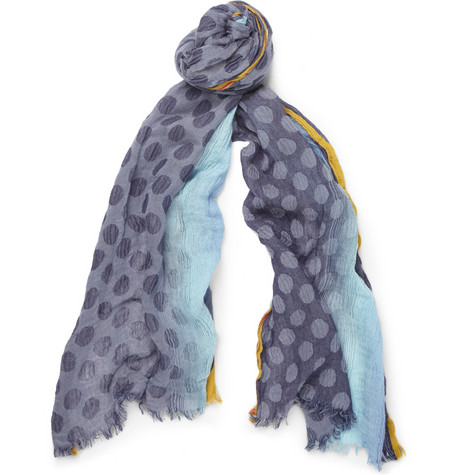 Paul Smith Shoes & Accessories Patterned Gauze Scarf