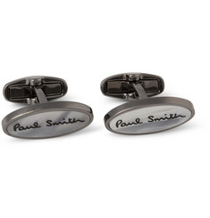 Paul Smith Shoes & Accessories Mother-of-Pearl and Metal Cufflinks