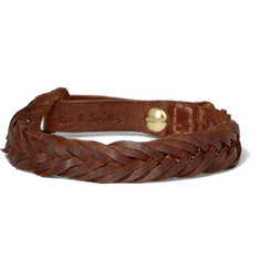 Paul Smith Shoes & Accessories Woven-Leather Bracelet