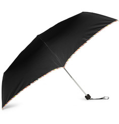 Paul Smith Shoes & Accessories Multi-Stripe Trimmed Collapsible Umbrella