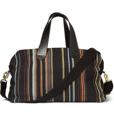 Paul Smith Shoes & Accessories Patterned Leather-Trimmed Woven Holdall Bag