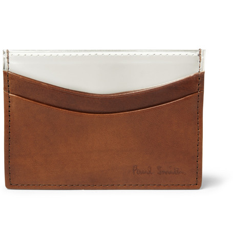 Paul Smith Shoes & Accessories Metallic and Burnished-Leather Card Holder