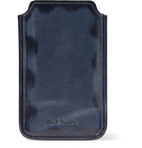 Paul Smith Shoes & Accessories Burnished-Leather iPhone Case
