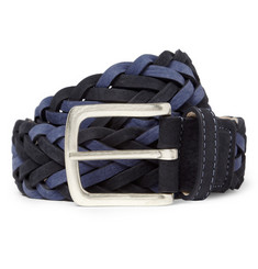 Paul Smith Shoes & Accessories Woven Nubuck Leather Belt