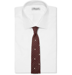 Paul Smith Shoes & Accessories Rabbit-Embroidered Cotton and Silk-Blend Tie