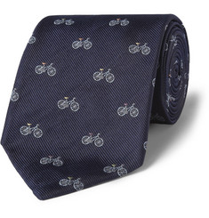 Paul Smith Shoes & Accessories Bicycle-Embroidered Silk Tie