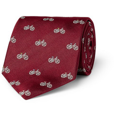 Paul Smith Shoes & Accessories Bicycle-Patterned Woven-Silk Tie
