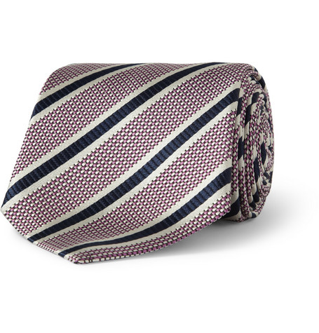 Paul Smith Shoes & Accessories Striped Woven-Silk Tie