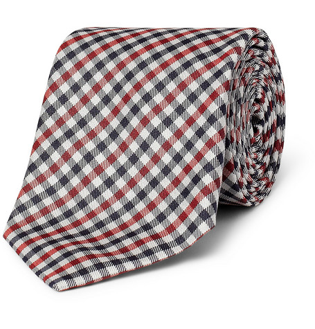 Paul Smith Shoes & Accessories Check Woven-Silk Tie