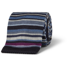 Paul Smith Shoes & Accessories Striped Knitted Silk Tie