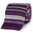 Paul Smith Shoes & Accessories - Striped Knitted Silk Tie