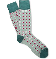 Paul Smith Shoes & Accessories Odd Spotted Cotton-Blend Socks
