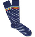 Paul Smith Shoes & Accessories Striped Polka-Dot Cotton-Blend Socks
