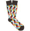 Paul Smith - Diamond-Patterned Cotton-Blend Socks