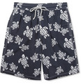 Vilebrequin Okoa Long-Length Turtle-Print Swim Shorts