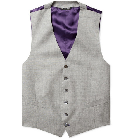 Paul Smith London Grey Kensington Wool Waistcoat