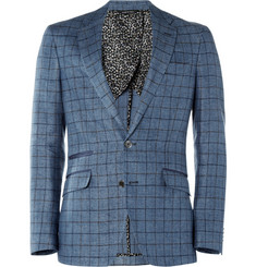 Paul Smith London Byard Check Linen-Blend Blazer