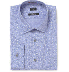 Paul Smith London Blue Printed Cotton Shirt