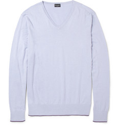 Paul Smith London Knitted Cotton V-Neck Sweater