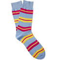 Richard James Striped Cotton Socks