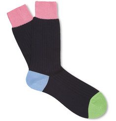 Richard James Ribbed Cotton Socks