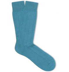 Pantherella Knitted Cotton-Blend Socks
