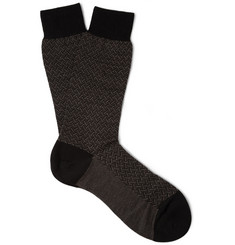Pantherella Burlington Patterned Wool-Blend Socks