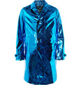 Burberry Prorsum Metallic Silk Rain Coat