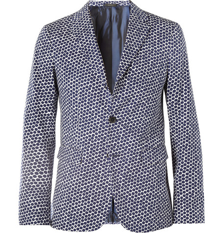 Jil Sander Slim-Fit Printed Cotton-Twill Blazer