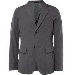Jil Sander Grey Unstructured Cotton Suit Jacket