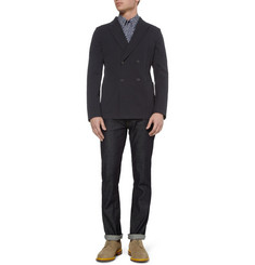 Jil Sander Unstructured Contrast-Back Cotton-Blend Blazer
