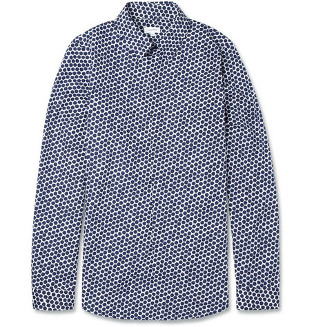 Jil Sander Slim-Fit Heptagon-Print Cotton Shirt
