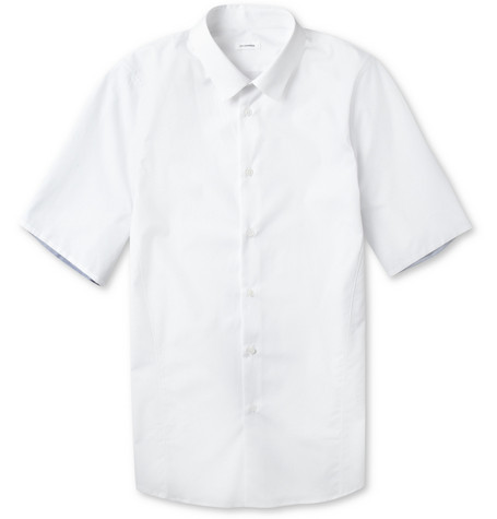 Jil Sander Cotton-Poplin Short Sleeve Shirt