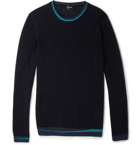 Jil Sander Wool-Blend Crew Neck Sweater