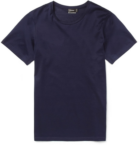 Jil Sander Crew Neck Cotton-Jersey T-Shirt