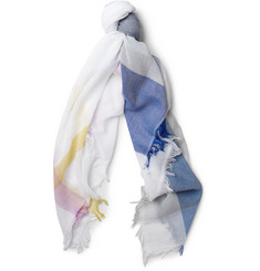 Jil Sander Printed Cotton and Silk-Blend Scarf