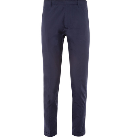 Jil Sander Cropped Slim-Fit Cotton Trousers