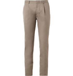 Valentino Side-Stripe Cotton-Twill Trousers