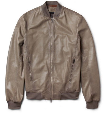 Valentino Slim-Fit Leather Bomber Jacket