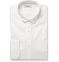Valentino Collar-Stud Cotton-Twill Shirt