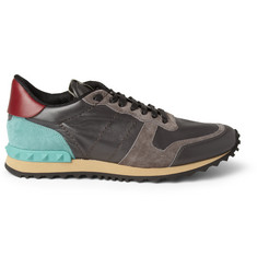 Valentino Leather and Suede Sneakers