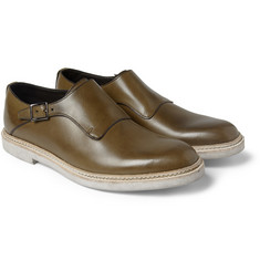 Valentino Leather Monk-Strap Shoes