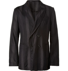 Ann Demeulemeester Unstructured Striped Silk-Blend Blazer
