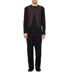 Ann Demeulemeester Herringbone Cotton and Linen-Blend Waistcoat