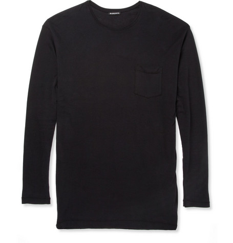 Ann Demeulemeester Long-Length Brushed-Cotton T-Shirt